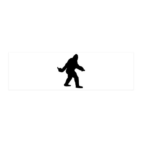 Bigfoot Flips The Bird 20x6 Wall Decal