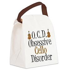 Funny Cello Canvas Lunch Bag
