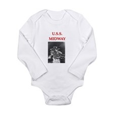 MIDWAY.png Long Sleeve Infant Bodysuit