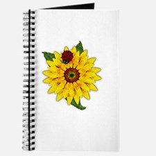 Mosaic Sunflower with Lady Bug Journal