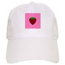 Pink Polka Dots and Strawberries Baseball Cap