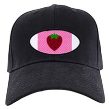 Pink Polka Dots and Strawberries Baseball Hat