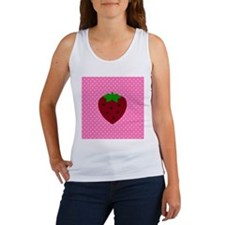 Pink Polka Dots and Strawberries Women's Tank Top
