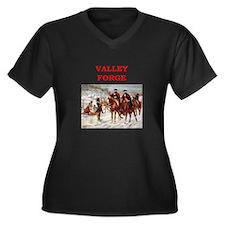 valley forge Women's Plus Size V-Neck Dark T-Shirt