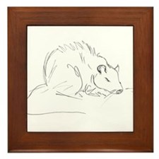 Sketch Rat Framed Tile