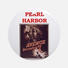 Pearl Harbor Poster (round) Round Ornament
