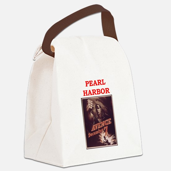 pearl harbor poster Canvas Lunch Bag