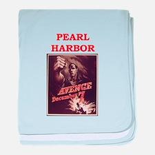 pearl harbor poster baby blanket