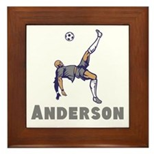Personalized Soccer Framed Tile