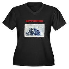 gettysburg Women's Plus Size V-Neck Dark T-Shirt