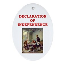declaration of independence Ornament (Oval)