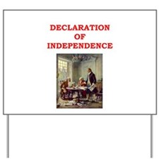 declaration of independence Yard Sign