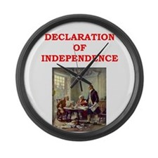 declaration of independence Large Wall Clock
