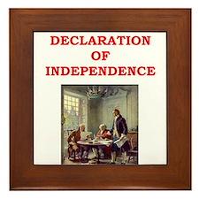 declaration of independence Framed Tile