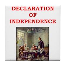 declaration of independence Tile Coaster