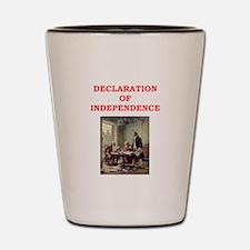 declaration of independence Shot Glass