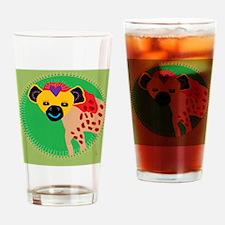 hyena Drinking Glass
