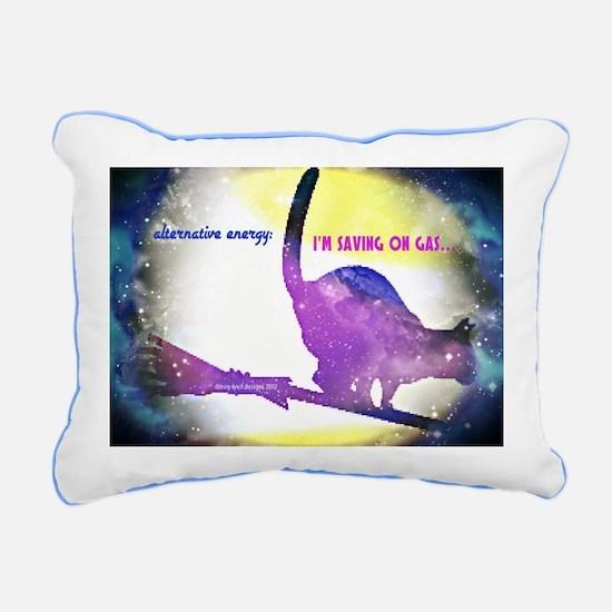 Alternative Energy Cat Rectangular Canvas Pillow