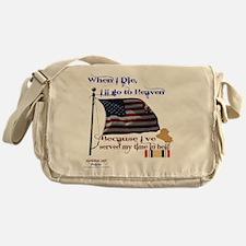 When I Die... Iraq Messenger Bag
