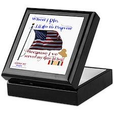 When I Die... Iraq Keepsake Box