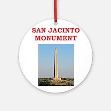 san jacinto monument Ornament (Round)