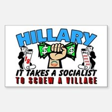 To Screw A Village! Decal