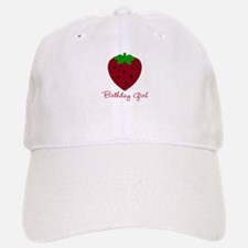 Red Strawberry Birthday Girl Baseball Baseball Cap