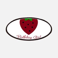 Red Strawberry Birthday Girl Patches