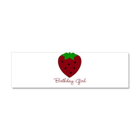 Red Strawberry Birthday Girl Car Magnet 10 x 3