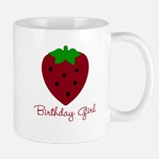 Red Strawberry Birthday Girl Mug