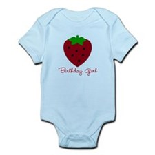 Red Strawberry Birthday Girl Infant Bodysuit