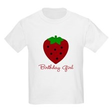 Red Strawberry Birthday Girl T-Shirt