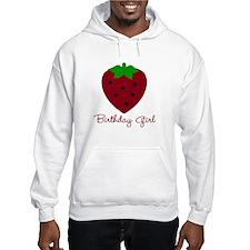 Red Strawberry Birthday Girl Hoodie