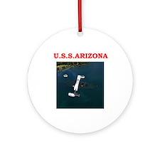 Uss Arizona (round) Round Ornament