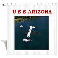 uss arizona Shower Curtain