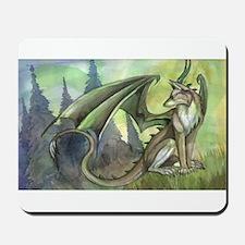 Dragon wolf hybrid Mousepad