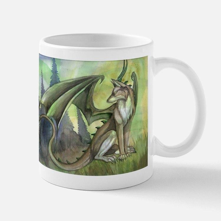 Dragon wolf hybrid Mug