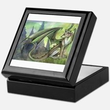 Dragon wolf hybrid Keepsake Box