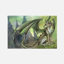 Dragon wolf hybrid Rectangle Magnet