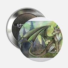 "Dragon wolf hybrid 2.25"" Button"