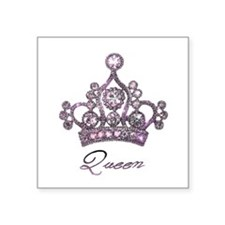 """Queen"" Tiara Sticker"