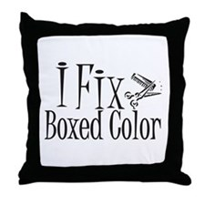 I Fix Boxed Color Throw Pillow