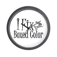 I Fix Boxed Color Wall Clock