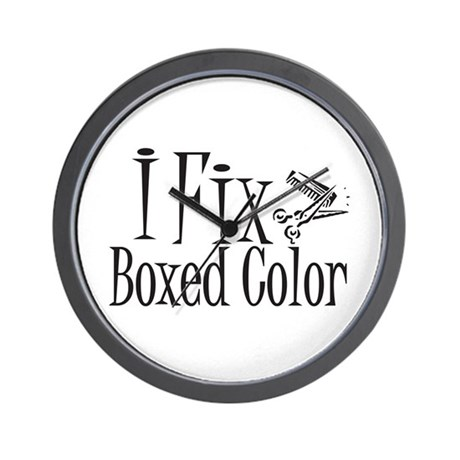 I Fix Boxed Color Wall Clock by gillentine