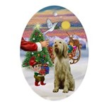 Santa's Treat - Italian Spinone Oval Ornament