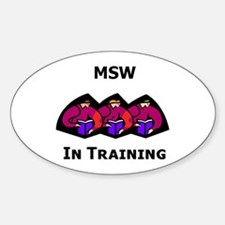 MSW in Training Oval Decal