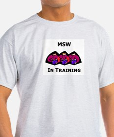 MSW in Training Ash Grey T-Shirt