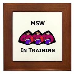 MSW in Training Framed Tile
