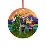 Xmas Fantasy & Roan Spinone Ornament (Round)