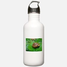 Snail on Leaf Water Bottle